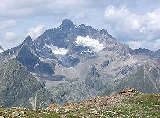 Verpeilspitze - Verpeilspitze from the east over the Pitz valley from Gahwinden (2648m)