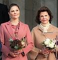 Victoria, Crown Princess of Sweden and Queen Silvia of Sweden in 2018.jpg