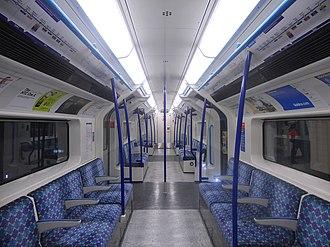 London Underground 2009 Stock - Image: Victoria line 09 Tube Stock DM Interior