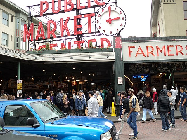 Pike place market shop in seattle washington usa travel for Fish market seattle
