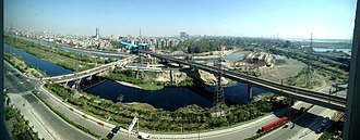 Noida - Image: View of Noida city from the Hilton Noida