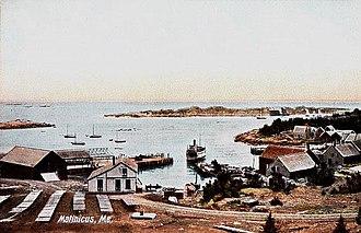 Matinicus Isle, Maine - View of the harbor c. 1908