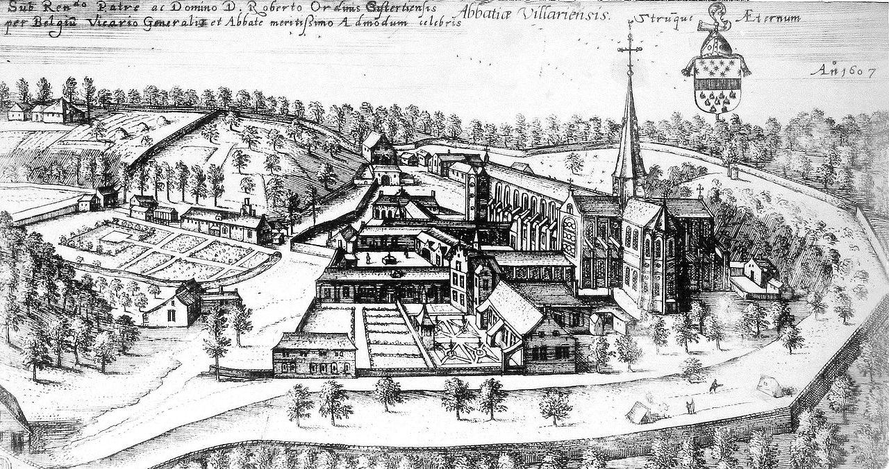 L'abbaye de Villers-la-Ville vue depuis l'est