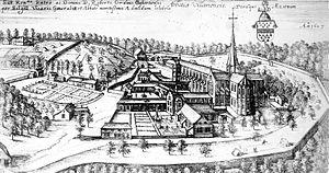 Villers Abbey - Villers Abbey 1607, anonymous engraving