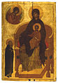 Virgin enthroned with Sergius of Radonezh (15 c., GIM) 1.jpg