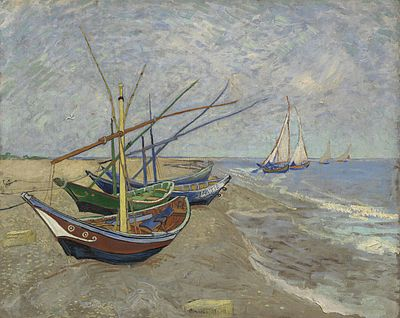 Fishing Boats on the Beach at Saintes-Maries, June 1888. Van Gogh Museum, Amsterdam