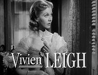 Vivien Leigh as Blanche DuBois in A Streetcar Named Desire.