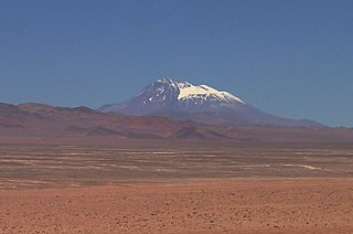 Socompa mountain in Argentina