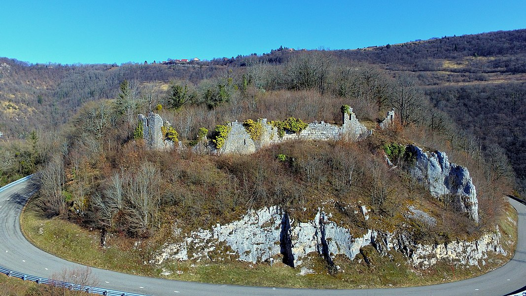 Les ruines de Châteauneuf