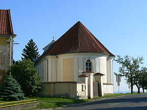 1782 Edict of Tolerance - Tolerance church in Vysoká (Bohemia) - without entrance from the street and without tower