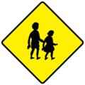 W141 School Ahead -Warning Sign Ireland.png