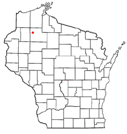 Location of Hayward (town), Wisconsin