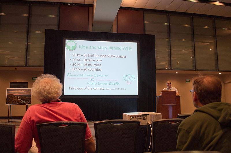 NickK розповідає про фотоконкурс Wiki Loves Earth. Автор фото — Ilya [CC BY-SA 4.0]