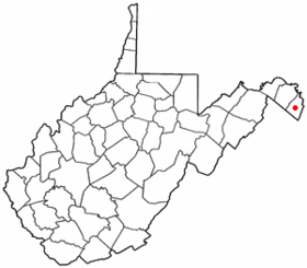 Location of Charles Town in West Virginia