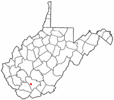 Location of Lester, West Virginia