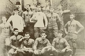 1891 West Virginia Mountaineers football team - Image: WV football team 1891