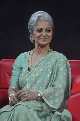 Waheeda Rehman - Waheeda Rehman in 2012 on Raveena Tandon's NDTV talk show