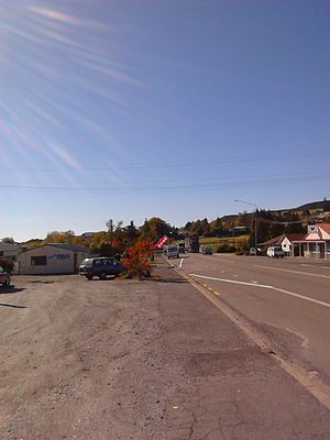 Waihola - Image: Waihola main road looking north