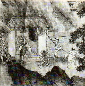 Wokou - Attacks by the Wokou. Fourteenth-century painting