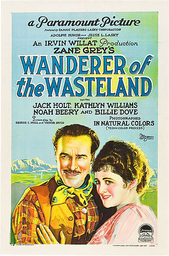 Wanderer of the Wasteland (1924 film) - Theatrical release poster, likenesses of Jack Holt and Billie Dove