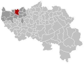 Waremme - Image: Waremme Liège Belgium Map