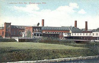 S. D. Warren Paper Mill - S.D. Warren Paper Mill in c. 1910