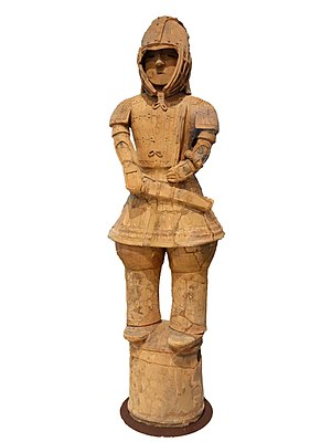 Japanese pottery and porcelain - Haniwa warrior in keiko armor, Kofun period, 6th century (National Treasure)