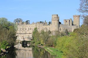 Earl of Warwick - Warwick Castle, traditionally the seat of the Earls of Warwick, on the River Avon.