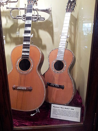 "Lyon & Healy - Image: Washburn Parlor Guitar (1894) and ""New Model"" (1896), Museum of Making Music"