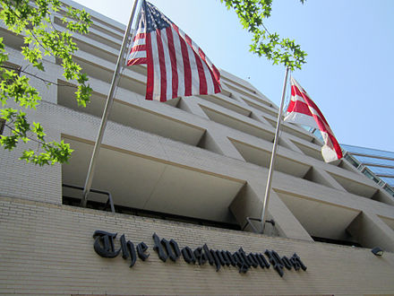 The previous headquarters of The Washington Post on 15th Street NW in Washington, D.C. Washington Post building.jpg