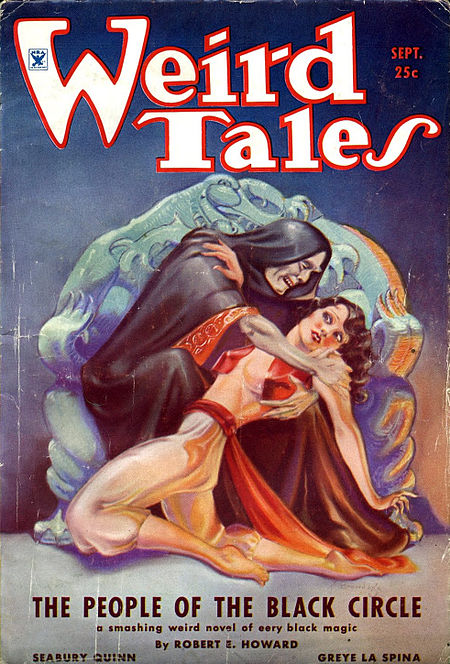 Cover of the September 1934 issue of Weird Tales