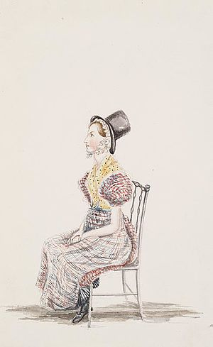 Augusta Hall, Baroness Llanover - One of Augusta Hall's Welsh costume watercolours, 1830