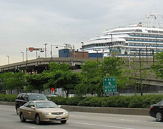 Hell's Kitchen, Manhattan - New York Passenger Ship Terminal in Hell's Kitchen at 52nd Street