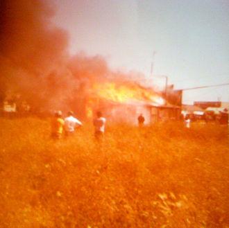 Castroville, California - Saloon on Fire