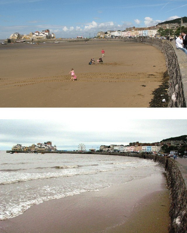 Weston-super-Mare tidal range