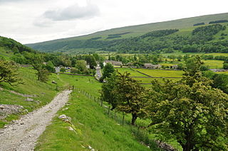 Wharfedale Valley in Yorkshire, England