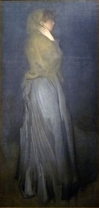 """The Heart of Midlothian - """"Arrangement in Yellow and Gray"""": Effie Deans by James McNeill Whistler"""