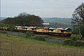 Why use just one locomotive^ A Colas convoy heads east to Cambridgeshire. - panoramio.jpg