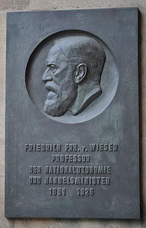 Friedrich von Wieser - Monument at the University of Vienna.