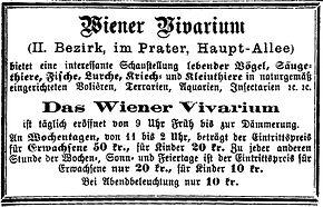 Bildergebnis für Vivarium wien 1873 Foto