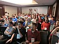 Wikimania 2017 by Deryck day 1 - 08 infobox session.jpg