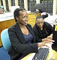 Wikimedia UK Black History Month participant editing.JPG