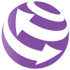 Wikivoyage Logo - White on violet.svg