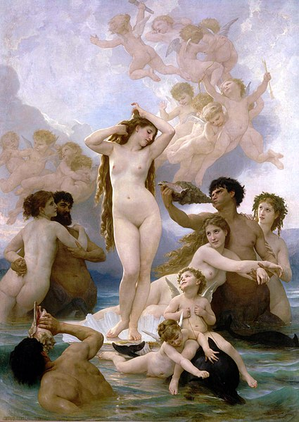 William-Adolphe Bouguereau (1825-1905) - Nascita di Venere (1879)