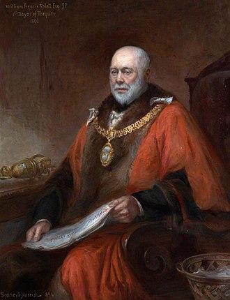 Manor of Flete - Portrait of Splatt when mayor of Torquay in 1892, by Sydney Sprague Morrish, 1894