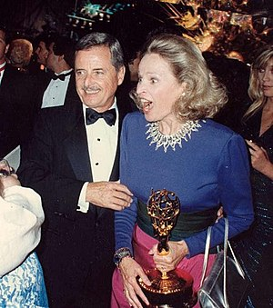 William Daniels - Daniels with wife Bonnie Bartlett at the 1987 Emmy Awards