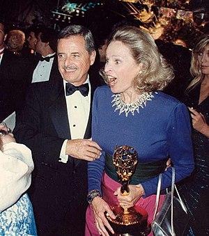 William Daniels - Daniels with wife Bonnie Bartlett at the 1987 Emmy Awards
