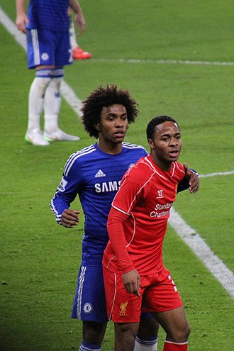 Raheem Sterling - Sterling (right) playing for Liverpool in 2015