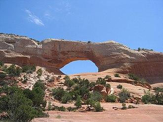 U.S. Route 191 in Utah - Wilson Arch alongside US-191 near La Sal Junction
