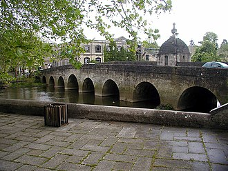 Wiltshire - A bridge over the River Avon at Bradford on Avon in Wiltshire